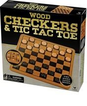 Cardinal Wood Checkers & Tic Tac Toe - $15.53