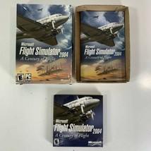 Microsoft Flight Simulator 2004: A Century Of Flight 4 Discs Box Manual Pc - $14.84