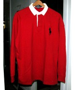 SOLID RED Polo SHIRT Size M Polo - $19.00