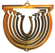 3 in stainless steel copper horseshoe USA 3D hanging yard wind spinner, ... - $9.00
