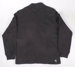 Ten 10.Deep Black Veterans Card Fleece Cardigan Sweater Jacket 2XL 3XL NW image 2
