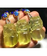1Pcs Citrine Quartz Crystal Natural Dragon Pi Xiu Pendant &Adjustable Ne... - $41.58