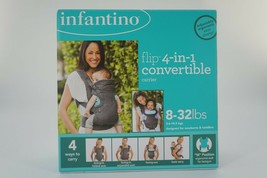 Baby Carrier Sling (Infantino) Flip 4-in-1 Convertible  8-32 lbs gray NEW - $29.70