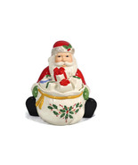 Lenox Holiday Fine China Santa Covered Candy Dish 5 inches  - $49.49