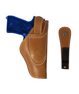 New Barsony Tan Leather 360Carry 12 Option OWB IWB Holster Full Size 9 4... - $64.99