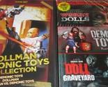 DEMONIC TOYS 1-2-3+ Dollman- Worry Dolls- Doll Graveyard (6 Films) NEW DVD's