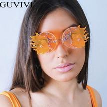 Rimless Vintage Sunglasses Women  Retro Steampunk Sunglasses Men Punk Sunglasses image 3