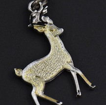 Vintage GRIFFITH Deer Forest Animal Sterling Silver Charm Enamel 925 Buc... - $10.76