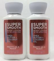 Bath & Body Works Super Smooth Body Lotion PRETTY AS A PEACH Travel Size... - $8.36