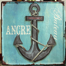 Nautical-home-decor-Vintage-plaques-iron-painting-metal-Tin-signs-wall-a... - $42.75