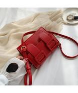 Contrast Color PU Leather Crossbody(Red 15cm x 19cm x 8cm) - $40.11