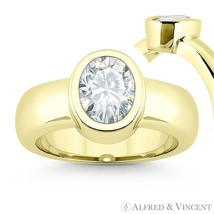 Forever Brilliant Oval Cut Moissanite 14k Yellow Gold Solitaire Engagement Ring - €671,61 EUR - €3.154,04 EUR