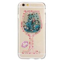 LG Stylus 2 Plus Liquid Case,Handmade Sexy Lip Diamond Goblet Wine Glass... - $12.86