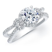 Antique Design Solid 925 Silver White Diamond Round Cut Womens Engagemen... - $159.99