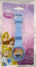 Disney Princess Princesses LCD Blue Band Watch Wristwatch LCD Digital Wa... - $29.69