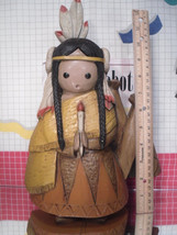 Southwestern Girl with Teepee Kitsch Holiday Wall Decor Burwood 2513 by ... - $7.02