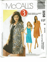 McCALLS PATTERN 3258 MISSES/MISS PETITE DRESS &... - $4.00
