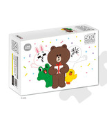 LINE Friends Jigsaw Puzzle Gift 500 pcs Character BROWN CONY Bromide Hob... - $30.83