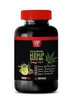 blood pressure support - Hemp Seed Oil 1400mg (1) - plant sterols weight... - $16.81