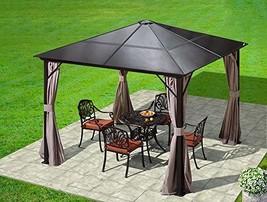 Erommy 10x10ft Outdoor Hardtop Gazebo Canopy Curtains Aluminum Furniture... - $882.06