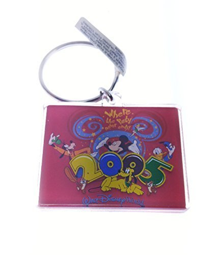 Disney 2005 Logo Where the Party Never Ends Acrylic Key Chain