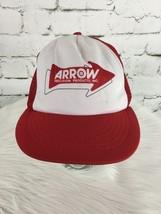 Arrow Precision Products Trucker Hat Cap Red Mesh Snapback Vintage Distr... - $23.76