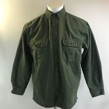 Woolrich Green Lined Button Front Long Sleeve Top Heavy Shirt Mens Size ... - $28.45