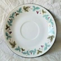 """Vintage Fine China Japan Saucer Blue & Green Leaves W/Grapes 5-1/2"""" Mult... - $3.95"""