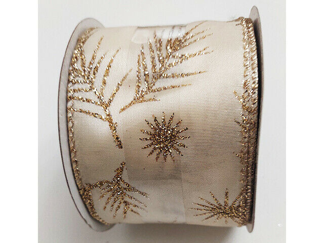 """Maker's Holiday 2.5"""" Spool of Ribbon, 25 Feet, Pine Boughs"""