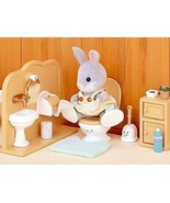 Sylvanian Families - Set Toilet Bathroom Complete Dolls Toy Girls Novelty - $202.13
