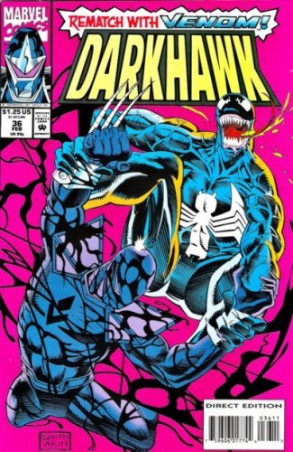 Darkhawk #36 (Venom) [Comic] [Jan 01, 1994] Danny Fingeroth and Tod Smith