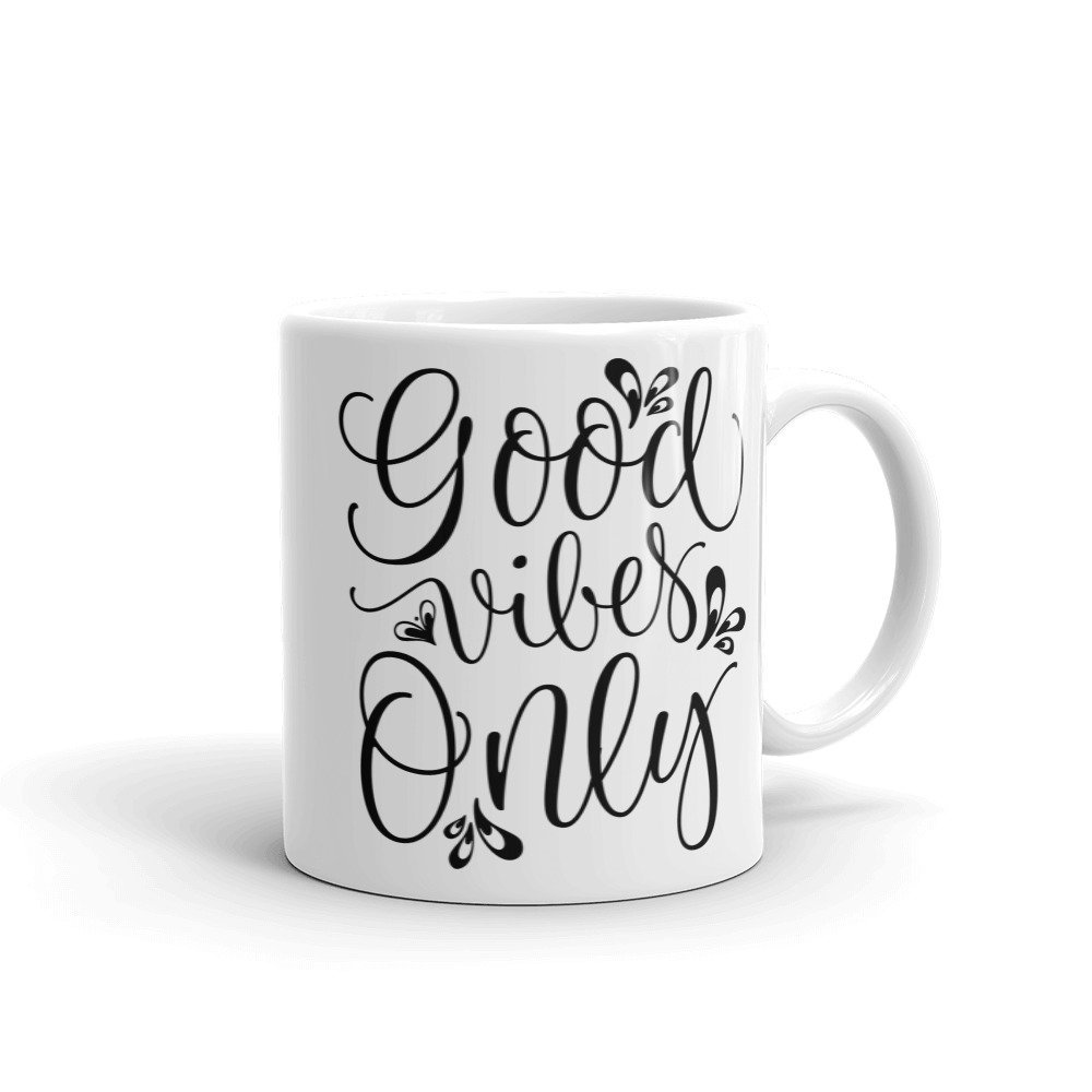New Mug - Good Vibes Only Hippie Namaste Karma Mug