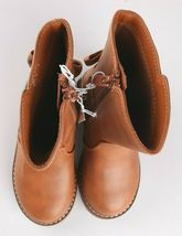 Cat & Jack Girls Toddler Brown Cognac Hermione Tall Fashion Bow Riding Boots image 6