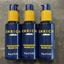 3 - Enrich by Gillette Nourishing Beard Oil -1.7 Oz Pump - Smooth Soft -... - $16.80