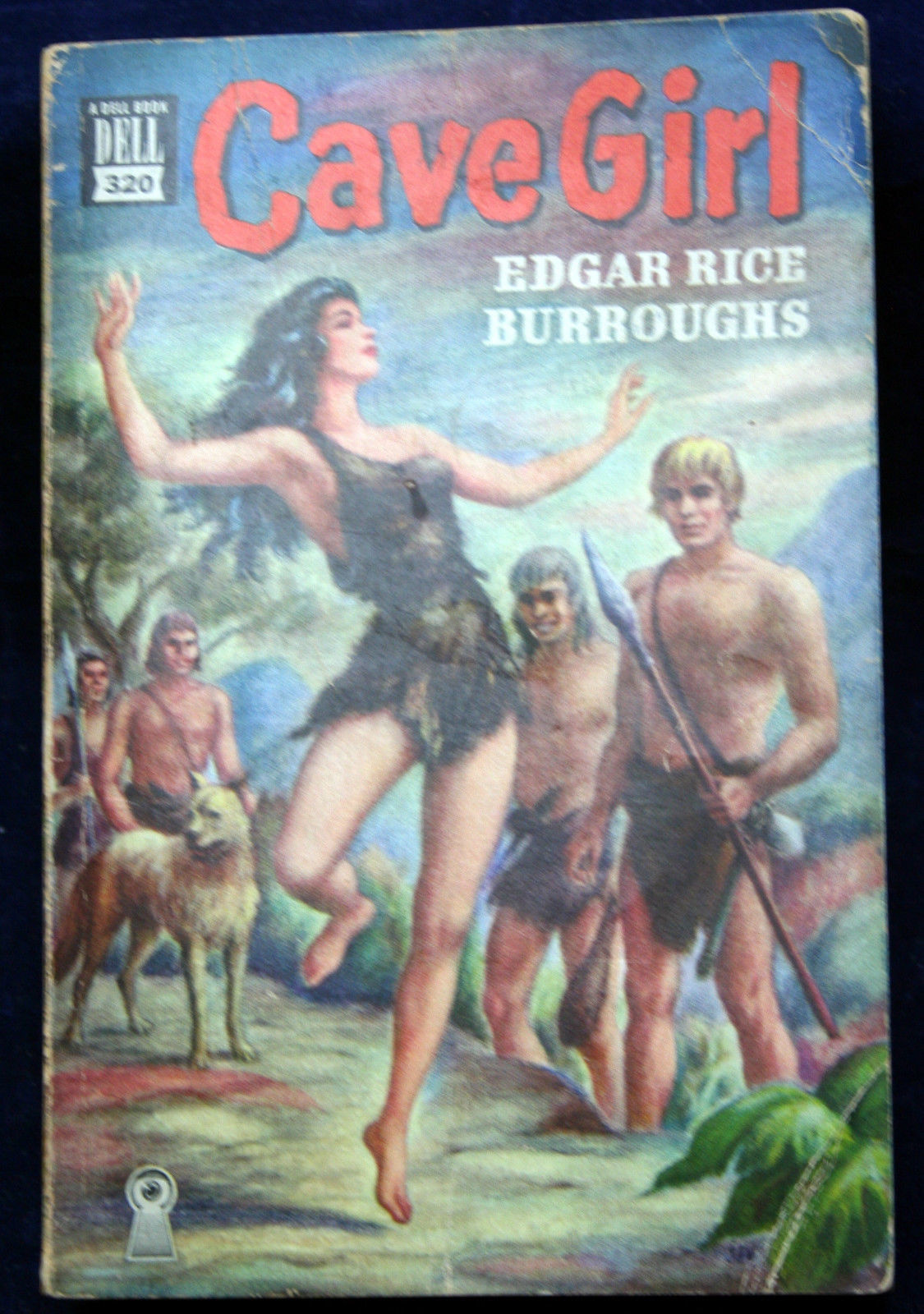 Primary image for Dell Mapback #320 Edgar Rice Burroughs CAVE GIRL Blood & Violence Rule Wild IS.