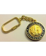 Double Sided Washington DC National Mall Blue / Gold Round Spinnig Centr... - $4.49