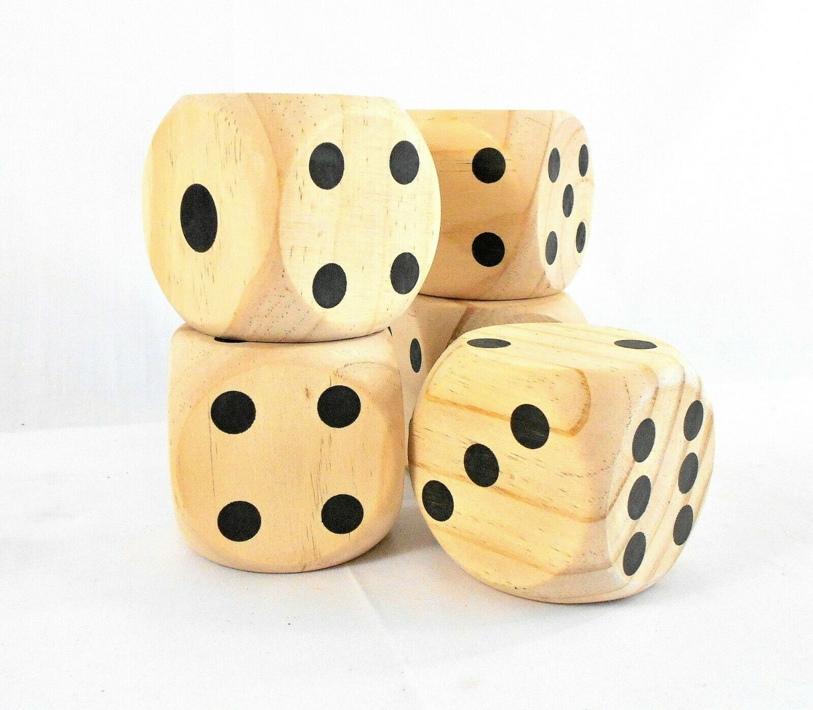 Jumbo Wooden Dice Game – Set of 5