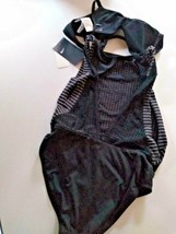 Nike Swim Black Convertible Transformable One Piece/Top Size Small image 2