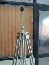NauticalMart Marine Signal Tripod Floor Lamp Stand - Chrome Finish Adjustable He - $177.88