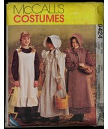 UNC Size 14 L Pioneer Costume McCalls 9424 Pattern Bust 32 34 Bonnet Pin... - $9.99