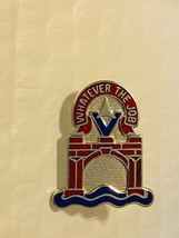 US Military 559th Engineer Battalion Insignia Pin - Whatever the Job - $10.00