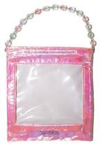 Lip Smacker* 1pc Empty Bag Coin Purse Pink Iridescent+Pastel Faux Jewels Balm - $2.48