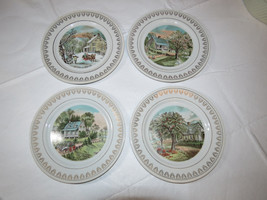 Currier & Ives Seasons Collector Plates set of 4 Winter Spring Summer Au... - $35.38