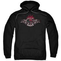 Superman - Steel Flames Shield Adult Pull Over Hoodie Officially License... - $36.99+