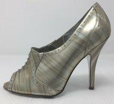 Jessica Simpson NICHOLA Metallic Booties heels Iridescent Patent leather 8.5 image 4