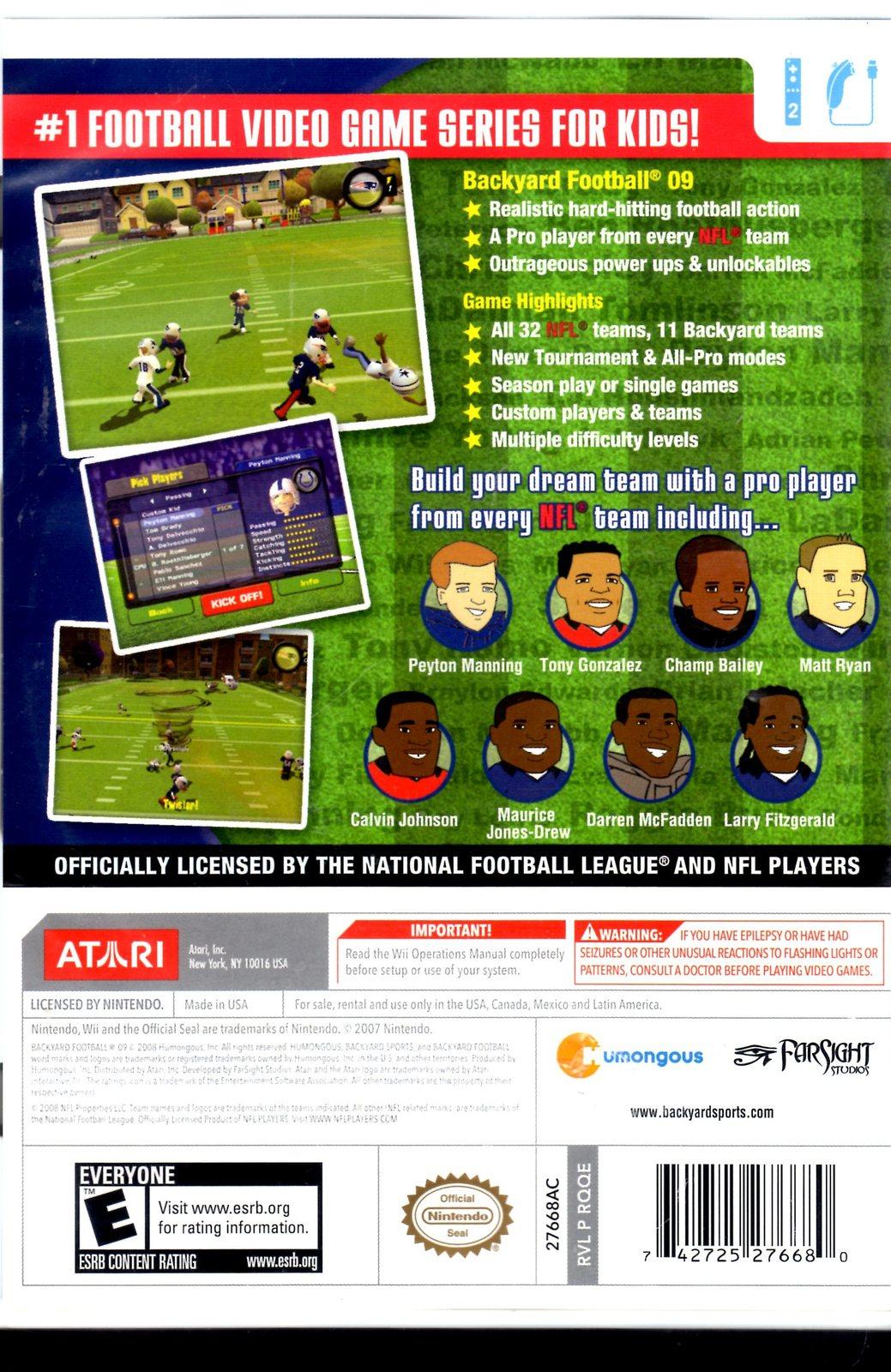 Wii - Backyard Football 09 - Video Games