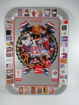 Coca-Cola Tin Tray Commemorative 1988 Olympics Calgary Seoul  - $17.33