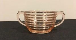 """Manhattan Pink Anchor Hocking Depression Glass Open Sugar Bowl 6.5"""" - $8.00"""