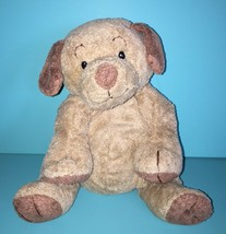 "Ty Pluffies Puppers Tan Brown Puppy Dog 9"" Plush Plastic Eyes Stuffed Lovey 2003 - $18.95"
