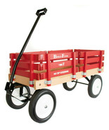 BERLIN FLYER CLASSIC RED Wooden No Tip WAGON -  MADE in the USA - $225.37